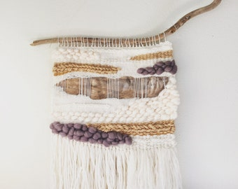 Woven Wall Hanging, Hand Woven, Tapestry