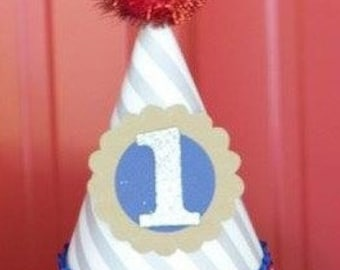 PERSONALIZED Birthday Party Hat ANY color or theme