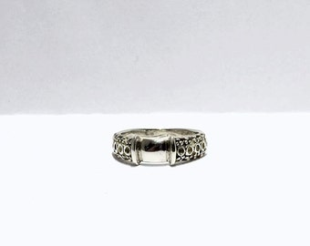 Silver Ring Decorative Band