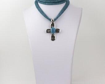 Necklace cord cotton stone Cross Ref: C0118