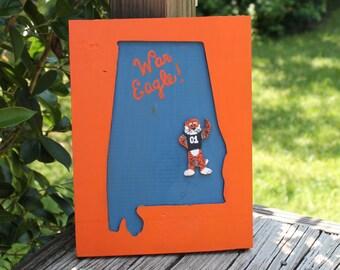 State Of Alabama Cutout - Auburn Tigers Aubie