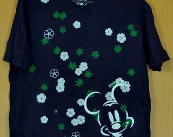 Vintage Mickey Mouse T Shirt Disneyland Peanut Shirt Wall Desney Mickey And friend Goofy Donald Duck Large Size