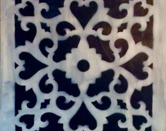 Pattern blue color