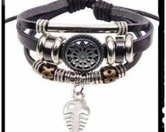 CUTE Adjustable Bone Fish Infinity Bracelet