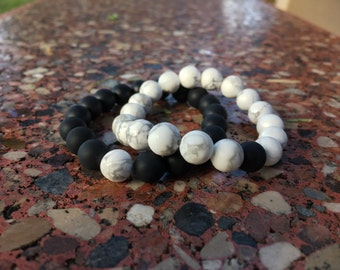 Yin and yang Long distance bracelets
