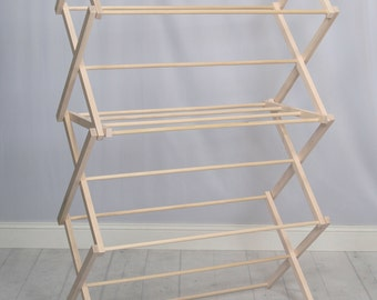 Pennsylvania Woodworks Wooden Clothes Drying Rack (Made in the USA) Heavy Duty 100% Hardwood