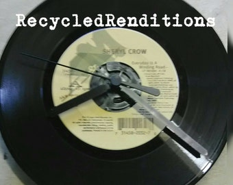 Handmade 45 Record Clock - Sheryl Crow - Everyday is a Winding Road