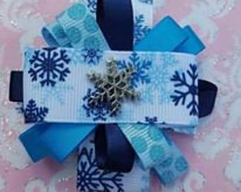 Winter Snowflake Bow
