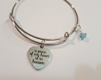 Piece of my heart- light blue/March crystal