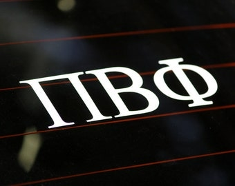 Pi Beta Phi | White Adhesive Decal