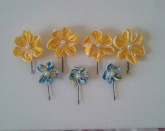 Pair of flower hair pin