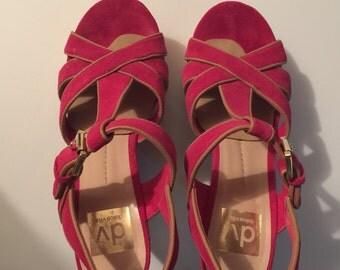 Pink Fuschia Platform Sandals