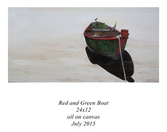 Red and Green Boat