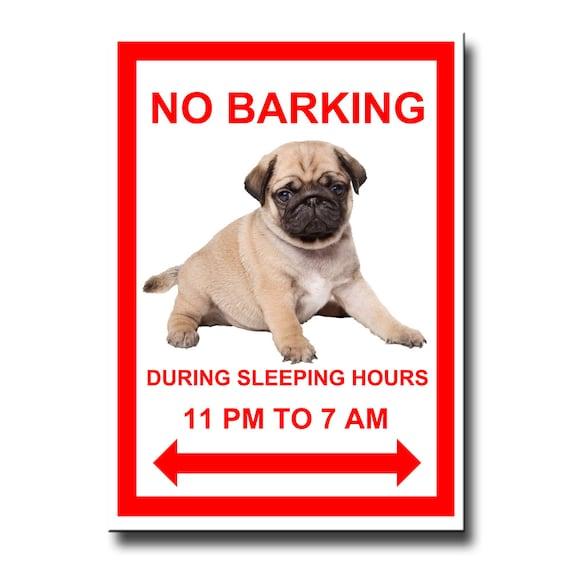 Pug No Barking Fridge Magnet No 3 Puppy Fawn