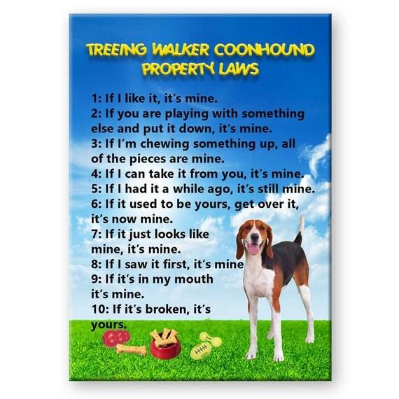 Treeing Walker Coonhound Property Laws Fridge Magnet