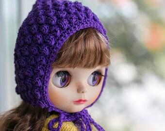 crochet Pixie hat for Blythe doll