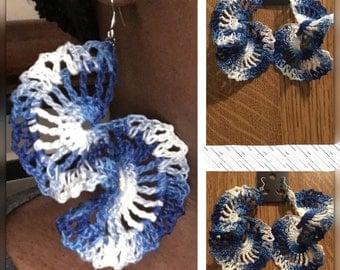 Crocheted Swirl Earrings