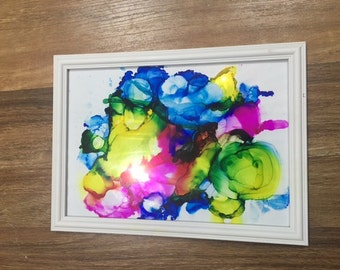 Vibrant Abstract Ink Art