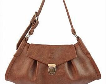 Vintage leather handmade handbag