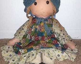 Original Vintage Knickerbocker Holly Hobbie Cloth Doll