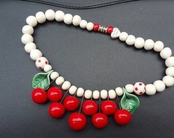 Flying Colors Cherry Necklace