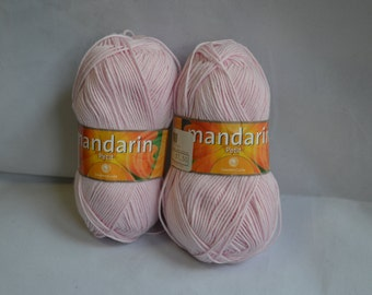 Mandarin Petit Yarn, Cotton Yarn, Baby Cotton, Baby Yarn, 100% Cotton, Pink Yarn