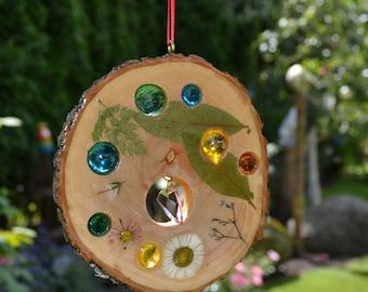 Sun Catcher, Sun catchers with flowers, glass & Swarovski