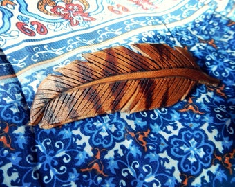 Barred Feather Hair Clip