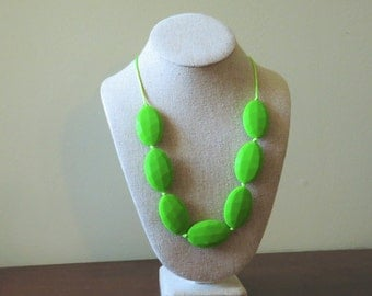 Silicone teething necklace, Anne teething necklace, green teething necklace
