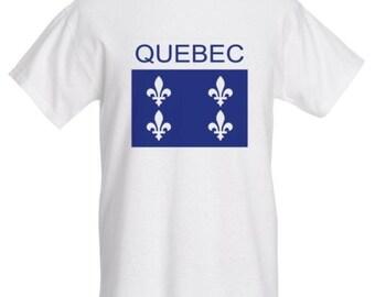 Quebec Flag T-Shirt - Canada Clothing