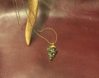 Mahogany obsidian arrowhead necklace