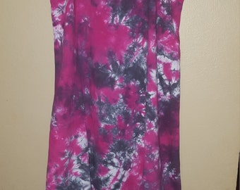 Tie dyed Spaghetti strap cover up dress... ready to ship
