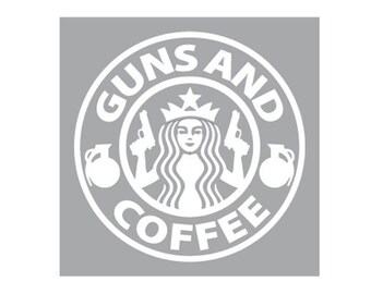 Guns and Coffee (Vinyl Decal)