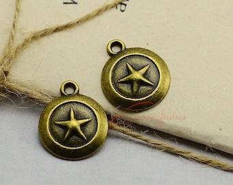 30PCS--20x16mm ,Star Charms, Antique Bronze Star Charm pendant, DIY supplies,Jewelry Making