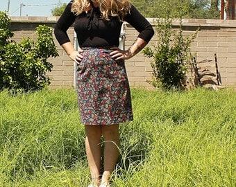 Floral Handmade Vintage Skirt