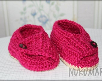 Crocheted booties little lady. 3-6 months.