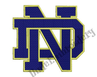 Notre Dame Fighting Irish Embroidery Designs 9 Sizes Football Logo Embroidery Design Instant Download 8 Formats machine embroidery pattern