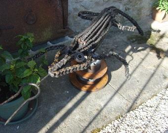 "Sculpture metal ""lizard"""