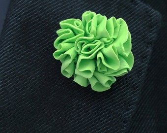 Green Carnation pin brooch
