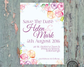 Romantic Floral Vintage Inspired Save The Date Printable