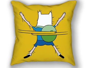 Finn the Human Hug Pillow, Funny, Jake the Dog, Adventure Time, Cartoon, Animation, Cool, Gift, Cute Gift
