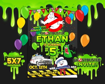 Ghostbusters Invitation, Ghostbusters Birthday, Ghostbusters Party