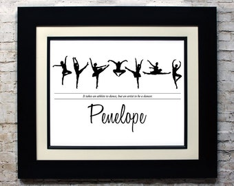Custom Silhouette Name Sign, Personalized Silhouette Name Wall Decor, Custom Silhouette Artwork