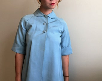 Vintage 50's/60's XS Women's or Size 8 Girl's Peter Pan Collared Swing Jacket