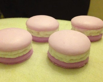4x Macaron Goats Milk SOAPS. Made to order. Post or Pick up Western Sydney.