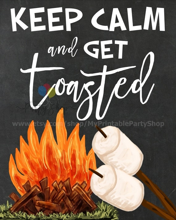 Keep Calm And Get Toasted Chalkboard Sign