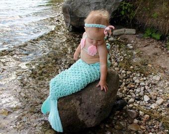 handmade crochet mermaid tail