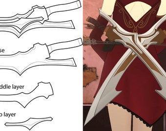 RWBY - Cinder Fall Sword blueprint