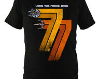 Star Wars Using the Force since 77 Brand New T-Shirt Unique Gift