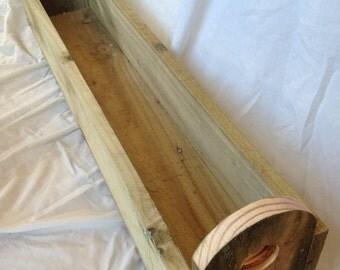 1m Hand Made, Wooden garden planter. Window box